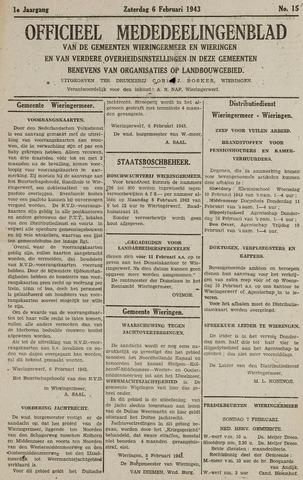 Mededeelingenblad Wieringermeer en Wieringen 1943-02-06