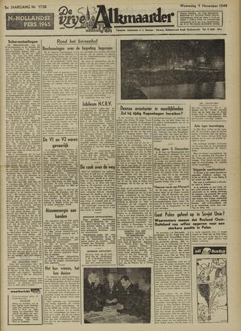 De Vrije Alkmaarder 1949-11-09