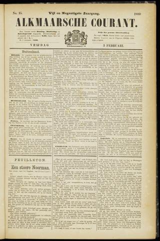Alkmaarsche Courant 1893-02-03