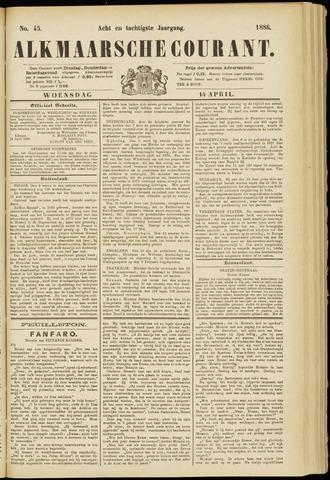 Alkmaarsche Courant 1886-04-14