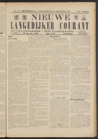 Nieuwe Langedijker Courant 1931-08-20
