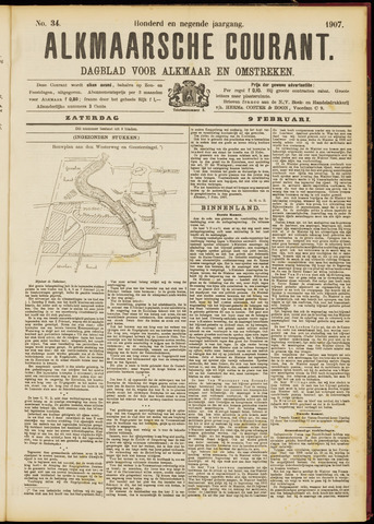 Alkmaarsche Courant 1907-02-09