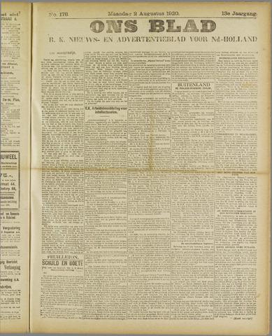 Ons Blad : katholiek nieuwsblad voor N-H 1920-08-02