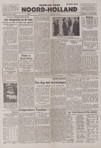 Dagblad Noord-Holland, Schager editie 1943-01-18