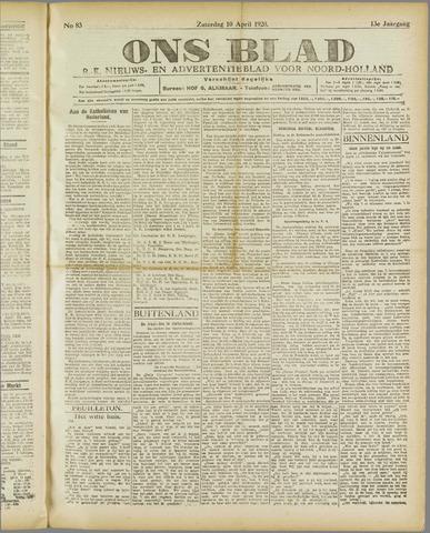 Ons Blad : katholiek nieuwsblad voor N-H 1920-04-10