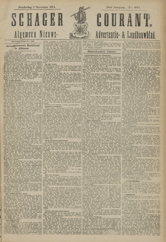 Schager Courant 1911-11-02