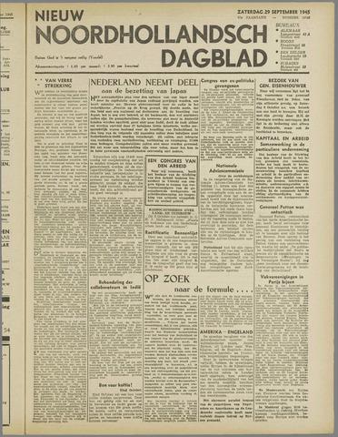 Nieuw Noordhollandsch Dagblad : voor Alkmaar en omgeving 1945-09-29