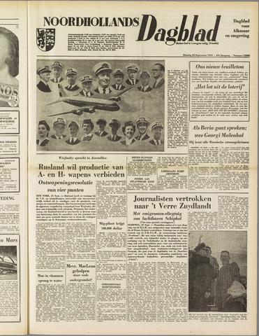 Noordhollands Dagblad : dagblad voor Alkmaar en omgeving 1953-09-22