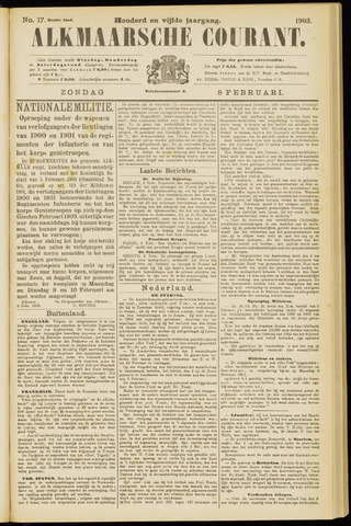 Alkmaarsche Courant 1903-02-08