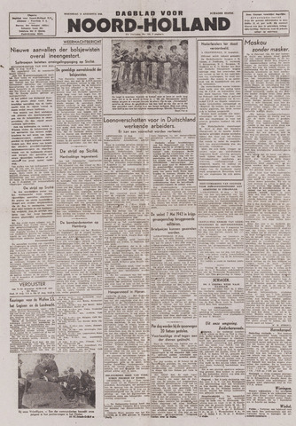 Dagblad Noord-Holland, Schager editie 1943-08-11