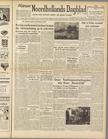 Nieuw Noordhollandsch Dagblad : voor Alkmaar en omgeving 1949-11-16