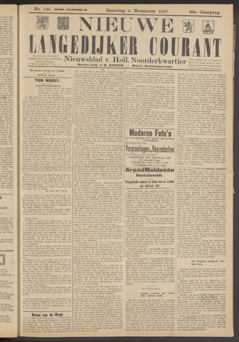 Nieuwe Langedijker Courant 1927-11-12