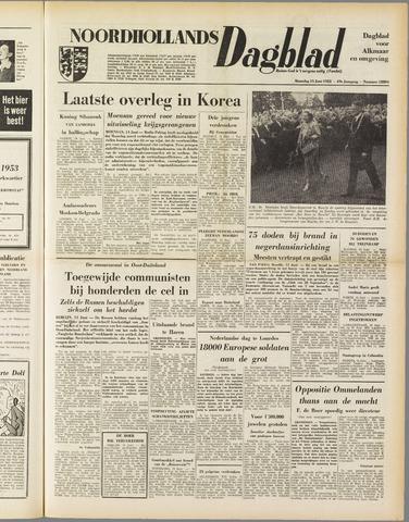 Noordhollands Dagblad : dagblad voor Alkmaar en omgeving 1953-06-15