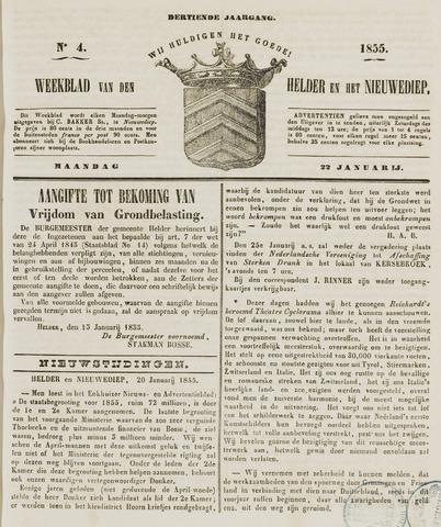 Weekblad van Den Helder en het Nieuwediep 1855-01-22