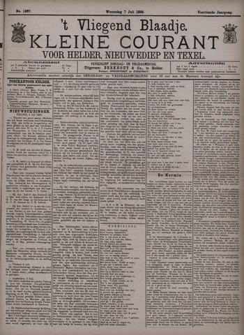 Vliegend blaadje : nieuws- en advertentiebode voor Den Helder 1886-07-07