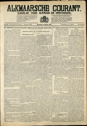 Alkmaarsche Courant 1937-10-04