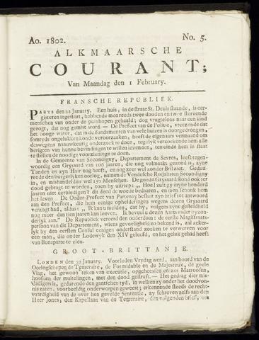 Alkmaarsche Courant 1802-02-01