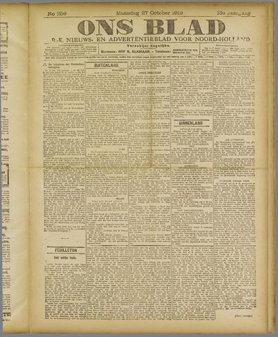 Ons Blad : katholiek nieuwsblad voor N-H 1919-10-27