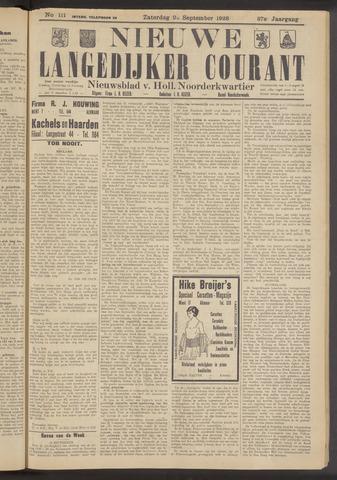 Nieuwe Langedijker Courant 1928-09-22