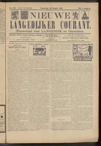 Nieuwe Langedijker Courant 1924-03-22