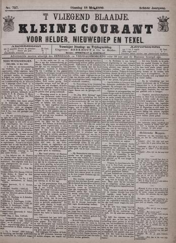 Vliegend blaadje : nieuws- en advertentiebode voor Den Helder 1880-05-18