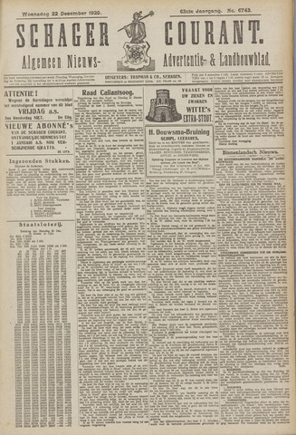 Schager Courant 1920-12-22