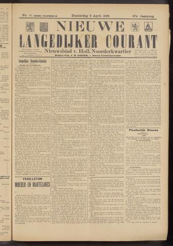 Nieuwe Langedijker Courant 1928-04-05