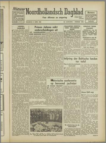 Nieuw Noordhollandsch Dagblad : voor Alkmaar en omgeving 1946-04-08
