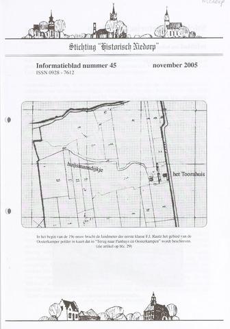 Informatieblad stichting Historisch Niedorp 2005-11-01