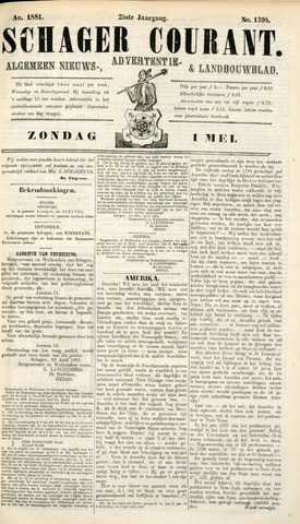 Schager Courant 1881-05-01