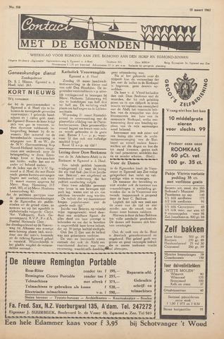 Contact met de Egmonden 1962-03-15
