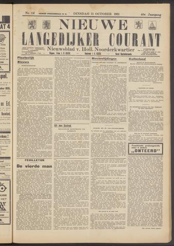 Nieuwe Langedijker Courant 1931-10-13