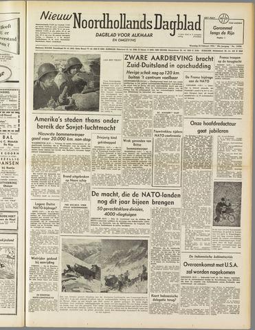 Nieuw Noordhollandsch Dagblad : voor Alkmaar en omgeving 1952-02-25