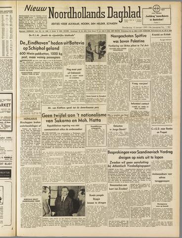 Nieuw Noordhollandsch Dagblad : voor Alkmaar en omgeving 1949-01-13