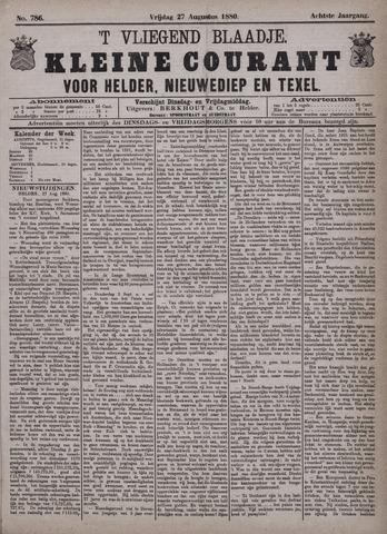 Vliegend blaadje : nieuws- en advertentiebode voor Den Helder 1880-08-27