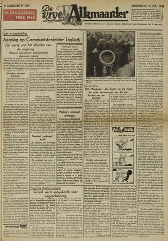 De Vrije Alkmaarder 1948-07-15