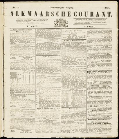 Alkmaarsche Courant 1874-04-05