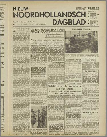 Nieuw Noordhollandsch Dagblad : voor Alkmaar en omgeving 1945-11-07