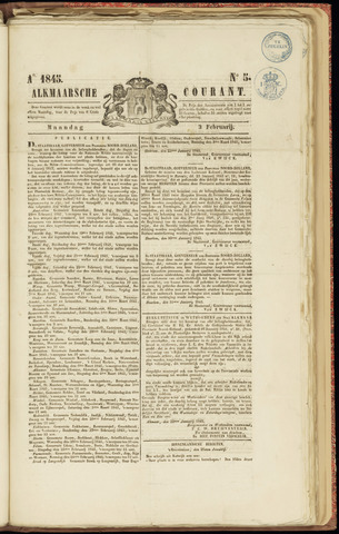 Alkmaarsche Courant 1845-02-03