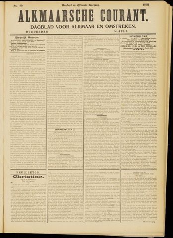 Alkmaarsche Courant 1913-07-24
