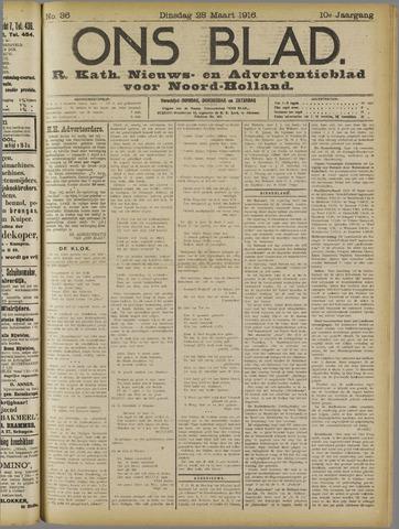 Ons Blad : katholiek nieuwsblad voor N-H 1916-03-28