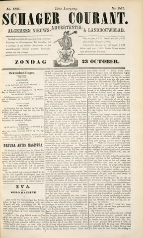 Schager Courant 1881-10-23