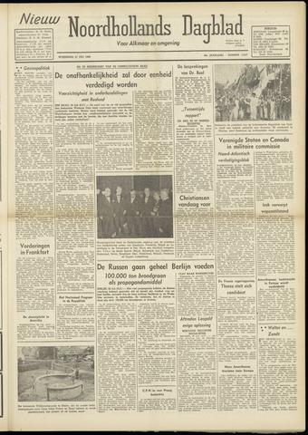 Nieuw Noordhollandsch Dagblad : voor Alkmaar en omgeving 1948-07-21