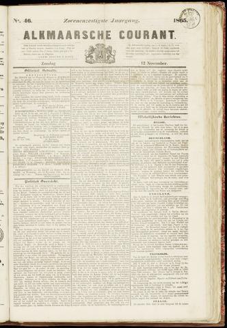 Alkmaarsche Courant 1865-11-12