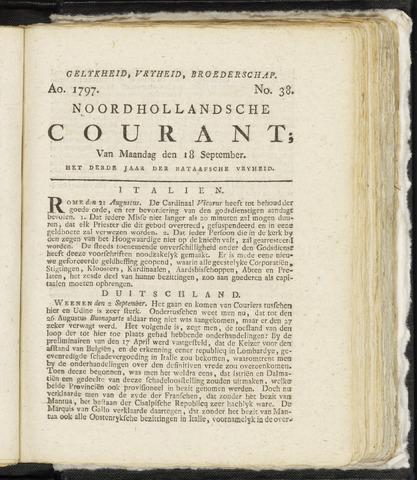 Noordhollandsche Courant 1797-09-18