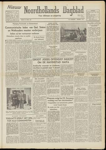 Nieuw Noordhollandsch Dagblad : voor Alkmaar en omgeving 1948-04-23