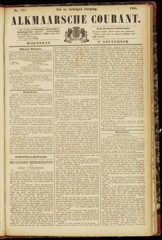 Alkmaarsche Courant 1884-09-17