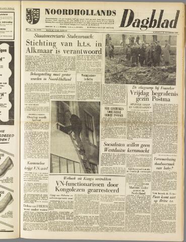 Noordhollands Dagblad : dagblad voor Alkmaar en omgeving 1960-11-23