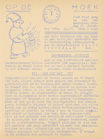 Op De Hoek, weekblad voor Akersloot 1954-12-31