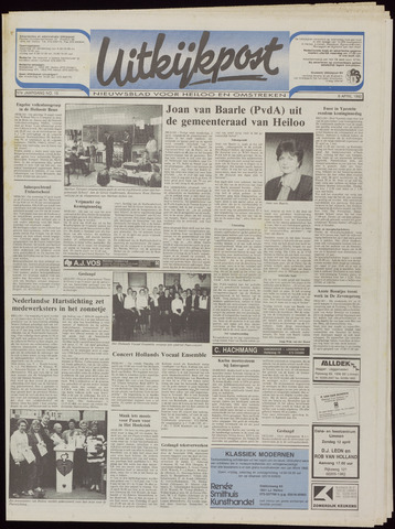 Uitkijkpost : nieuwsblad voor Heiloo e.o. 1992-04-08